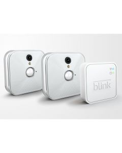 blink: Set Of Two Wireless Smart Home Indoor Hd Cameras And One Sync Unit Three Items White