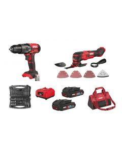 Skil Red Line Cordless Impact Drill Set