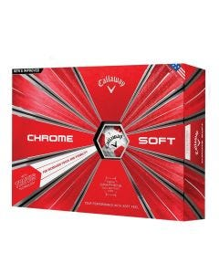 Callaway Chrome Soft Truvis Red Golf Balls