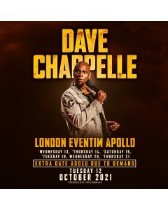Eventim Apollo in London – Dave Chappelle 16. October 2021