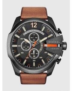 Diesel Brown Leather Mega Chief Watch