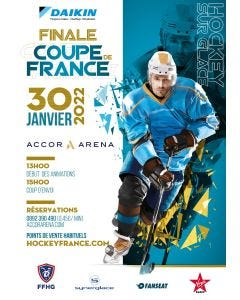 2 tickets - Carré ALL - Final of the French Hockey Cup - 30 January 2022