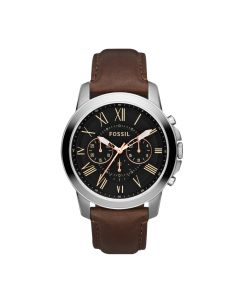 Fossil Grant Chrono Leather Watch - Brown