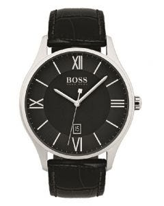 Hugo Boss Black Governor Leather Strap Watch