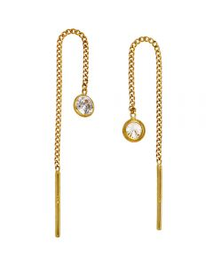 Jograbo Earrings 333 gold 2 cubic zirconia