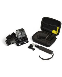 Action Camera Travel Case, Chest Mount, and Small Extension Pole