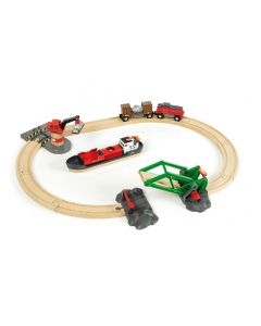 Brio Cargo At The Port Train Set