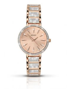 Seksy Aurora Ladies Rose Gold with Swarovski Crystals Watch