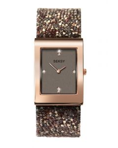 Seksy Rocks Watch with Rose Gold plated case