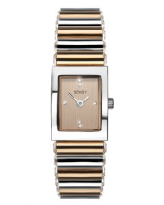 Seksy Edge Two-Tone Rose Gold Plated Watch