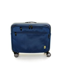 Gate8 Spin MATE Blue - 4-Wheel Hardshell Cabin Bag with Detachable Laptop Bag