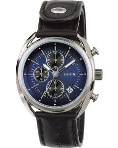 Seiko Beauborg Men's Watch w/ Chronograph & Black Leather Strap