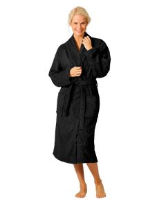 Twentse Damast Terry Bathrobe Black L/XL